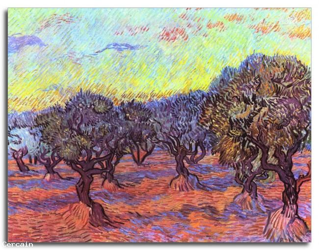 Riproduzione Artistica Ulivi 2 di Van Gogh