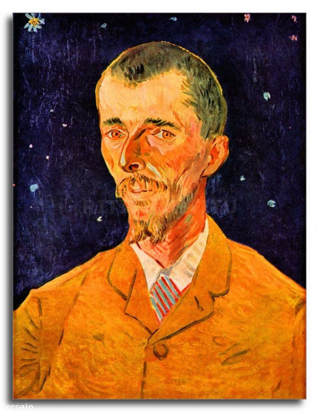 Riproduzione Artistica Ritratto di Eugene Boch di Van Gogh
