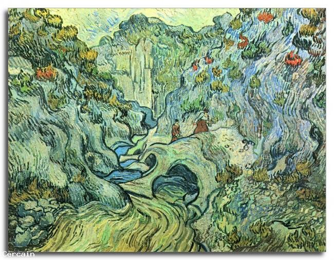 Riproduzione Artistica Il Burrone di Van Gogh