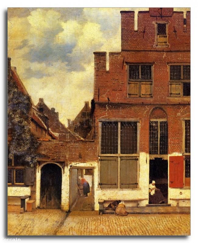 Riproduzione Artistica La stradina di Vermeer