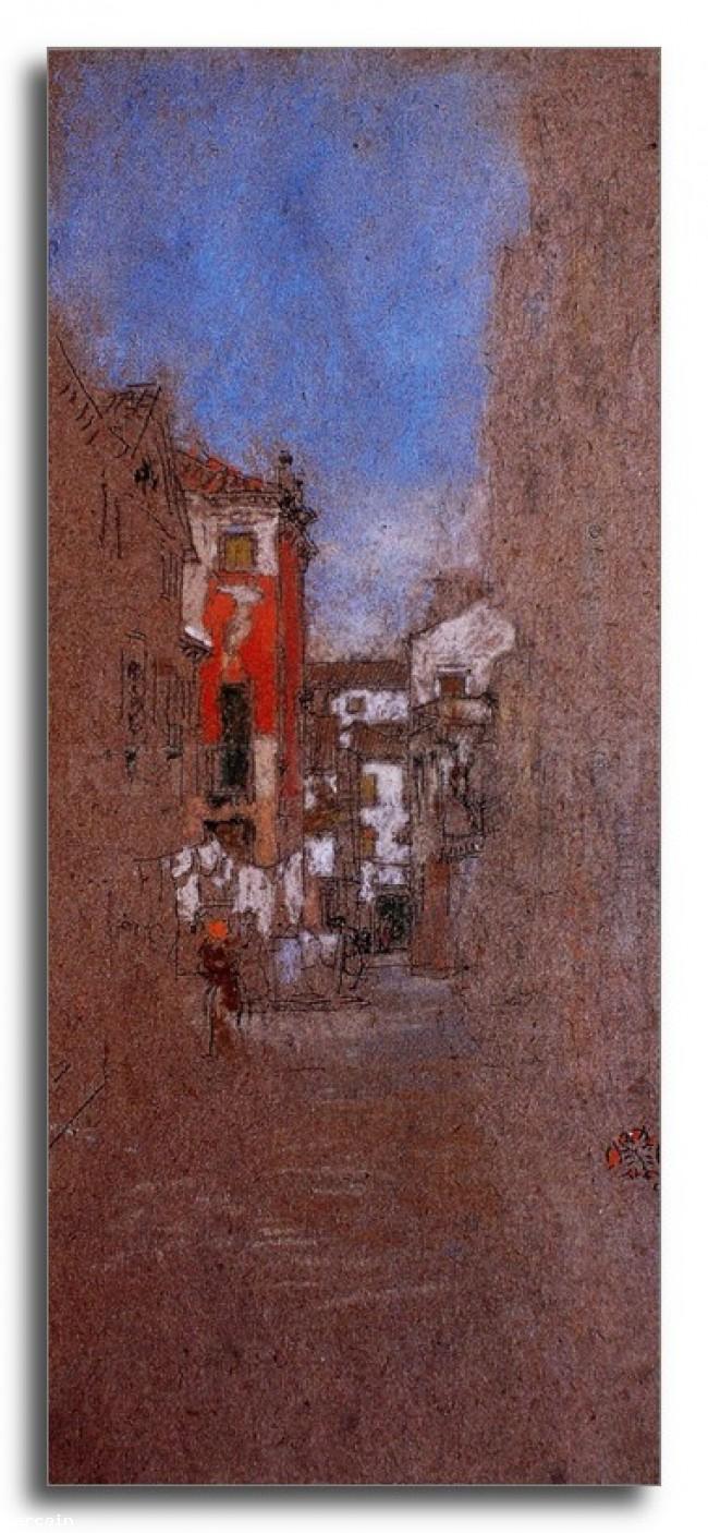 Riproduzione Artistica Via San Trovaso Venezia di Whistler