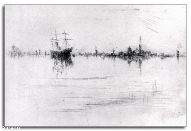Riproduzione Artistica Notturno di Whistler