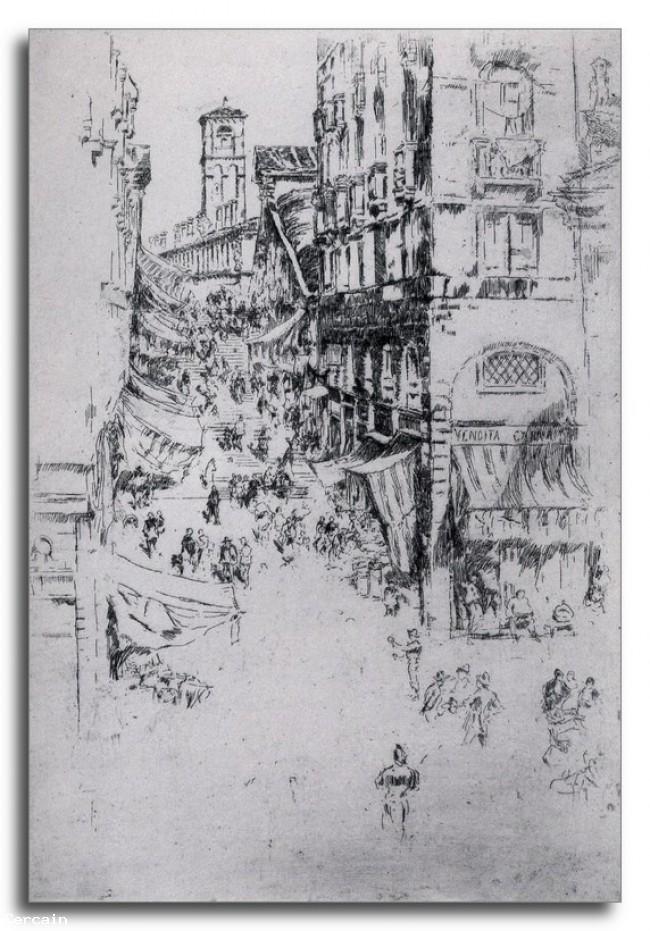 Riproduzione Artistica Il Rialto di Whistler