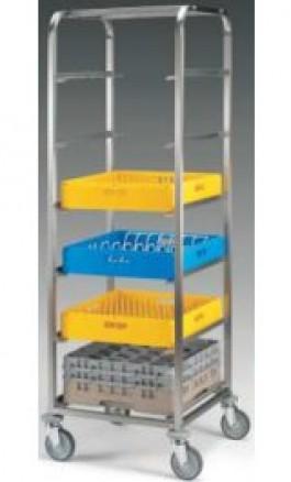 Carrello Acciaio Inox porta 6 cestelli per lavastoviglie 1499 6