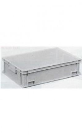 Cassa Plastica Sovrapponibile 34lt 60x40x17hcm Maniglie Chiuse
