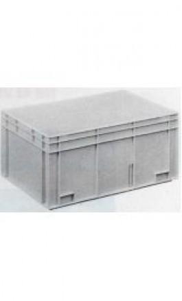 Cassa Plastica Sovrapponibile 55lt 60x40x28hcm Maniglie Chiuse