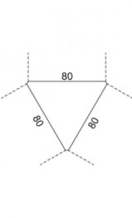 Top di collegamento a 3 vie 83x72xh25cm ModAN03F