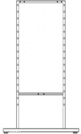 Piantana autoportante doppia x Scaffalatura per Espositore 3003F