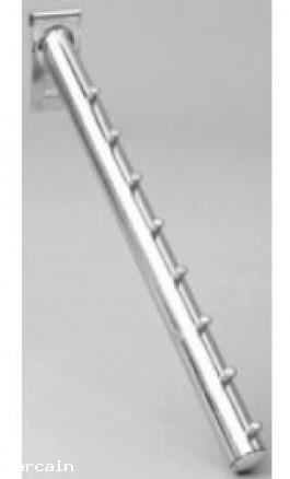 Supporto Espositore Inclinato Ø 25 Pz5 porta grucce per Griglia espo