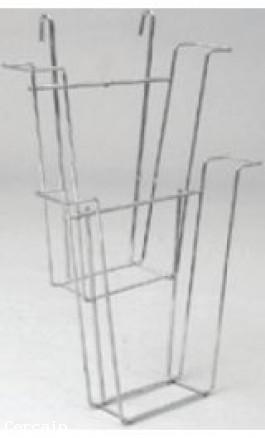 Porta volantini per griglie espositive per griglia pz 1 - Porta volantini ...